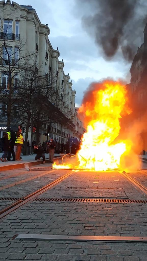 Gilets jaunes : l'agence Victoire dégradée